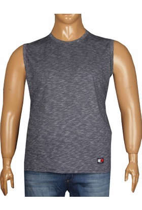 Fala Jeans Büyük Beden Yazlık Kolsuz Tshirt Lacivert