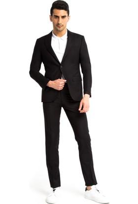 Kiğılı Düz Takım Elbise Siyah 125522