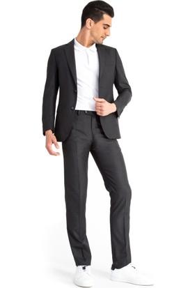 Kiğılı Desenli Takım Elbise Antrasit 125530