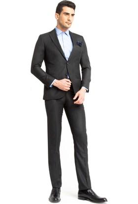 Kiğılı Kuşgözü Takım Elbise Füme 125539