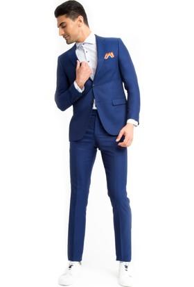 Kiğılı Kuşgözü Takım Elbise Mavi 125541