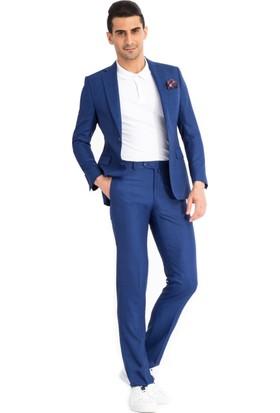 Kiğılı Ekose Takım Elbise Mavi 125546