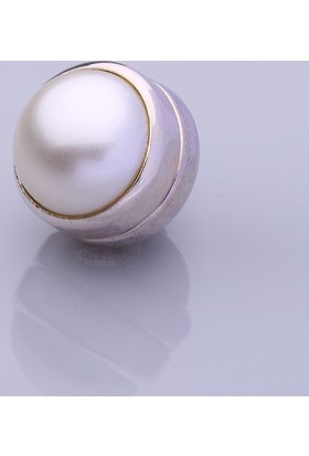 Fsg Takı Mat Krem Gümüş Kaplama Eşarp Mıknatısı