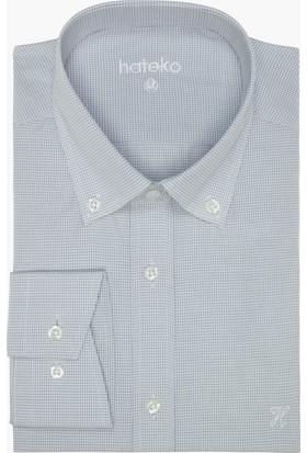 Hateko Kareli Beyaz - Gri Gömlek