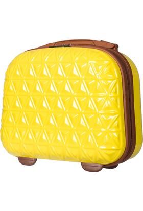 ÇÇS Polycarbonate Makyaj Çantası ÇÇSMKYJ5151 Sarı