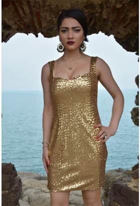 Espenica Pulpayet Kısa Gece Elbise Abiye Mezuniyet Balo Düğün Nikah Nişan Elbise 3415