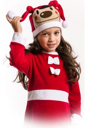 Denokids Kız Çocuk Yılbaşı Şapkası
