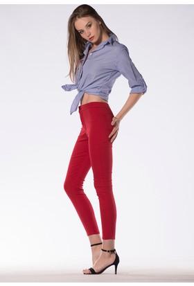 Tailor Yüksek Bel Pantolon Kırmızı