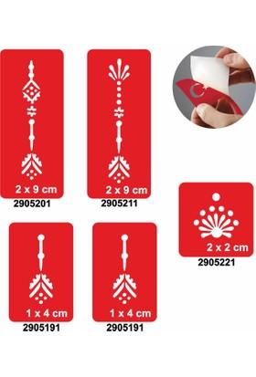 One Spray Tattoo 7705305 5Li Geçici Dövme Şablonu