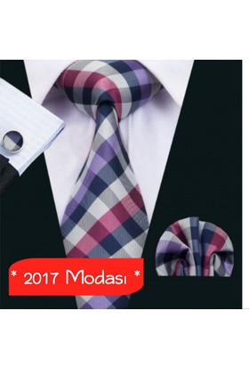 Bohem Store Kol Düğmesi / Kravat / Mendil Üçlü Set 674770