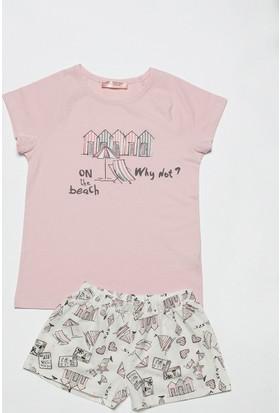 Hays Ribiko Kız Çocuk Penye Şortlu Pijama Takımı