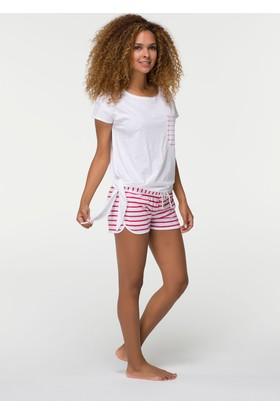 Hays Vaga Kadın Penye Kısa Kollu Şortlu Pijama Takımı