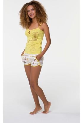 Hays Gicoo Kadın Penye İp Askılı Şortlu Pijama Takımı
