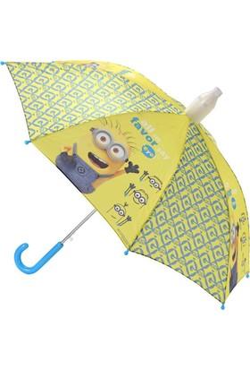 Hakan Çanta Minions 70 cm Sarı Çocuk Şemsiye (88051)