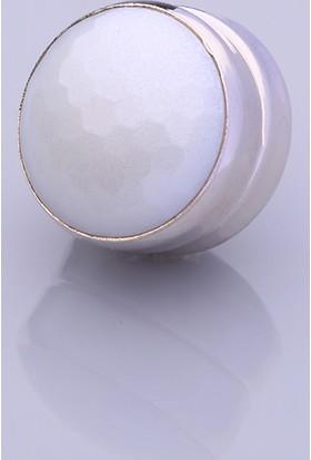 Fsg Takı Beyaz Gümüş Kaplama Eşarp Mıknatısı
