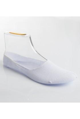 DeepSEA Beyaz Desenli Erkek Babet Çorap 1707051-001