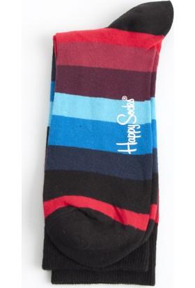 DeepSEA Lacivert-Siyah Desenli Uzun Erkek Çorap 1707066-182