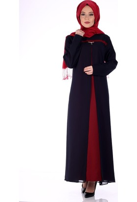 Modaateşi Şifon Detaylı Abiye Elbise 1600 Bordo