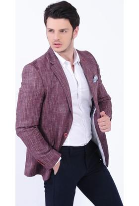 Modaateşi Bordo Blazer Ceket