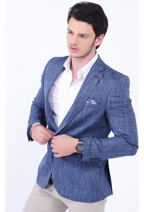 Modaateşi Mavi Blazer Ceket