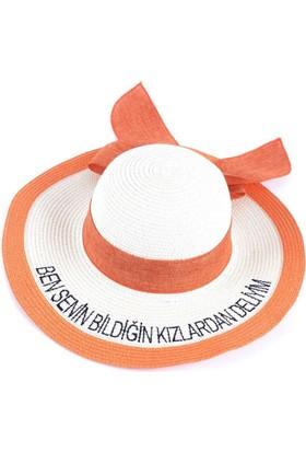 Bonalodi Bildiğin Kızlardan Deliyim Turuncu Sloganlı Şapka