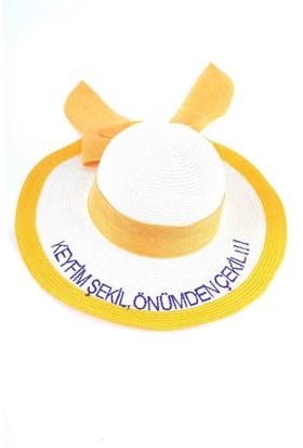 Bonalodi Keyfim Şekil Sarı Sloganlı Şapka