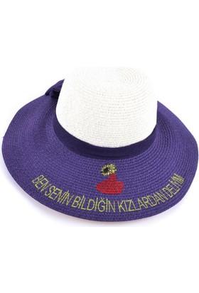 Bonalodi Kızlardan Deliyim Mor Sloganlı Şapka