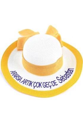 Bonalodi Sebastian Sarı Sloganlı Şapka