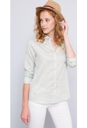 U.S. Polo Assn. Kadın Ena Gömlek Mint