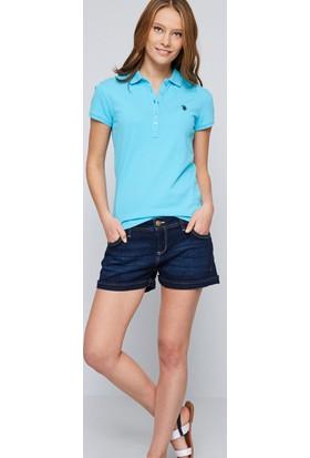 U.S. Polo Assn. Kadın Gtp-Iy07 Polo T-Shirt Mavi