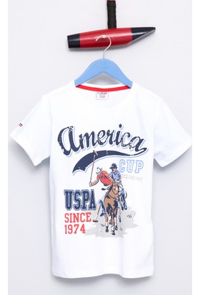 U.S. Polo Assn. Erkek Çocuk Lipa T-Shirt Beyaz