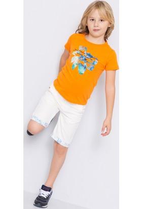 U.S. Polo Assn. Erkek Çocuk Luigi T-Shirt Turuncu