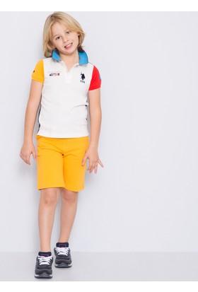 U.S. Polo Assn. Erkek Çocuk Mai T-Shirt Bej