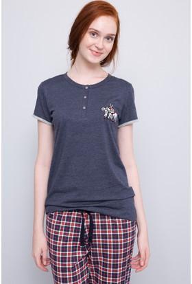 U.S. Polo Assn. Kadın Patli Pijama Takımı Lacivert