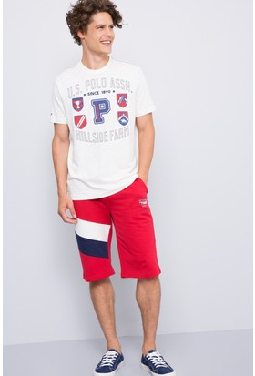 U.S. Polo Assn. Erkek Ropley Bermuda Kırmızı