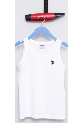U.S. Polo Assn. Erkek Çocuk Rusti T-Shirt Beyaz