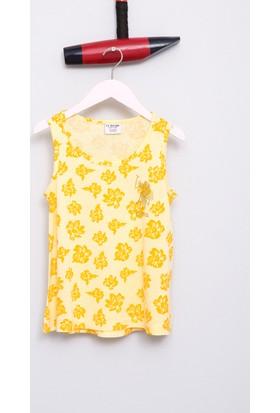 U.S. Polo Assn. Kız Çocuk Vesna T-Shirt Sarı Sarı