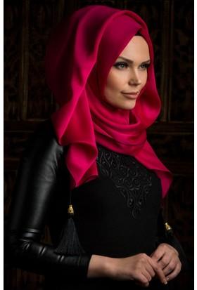Muslima Wear Püsküllü Şal 34001 Fuşya
