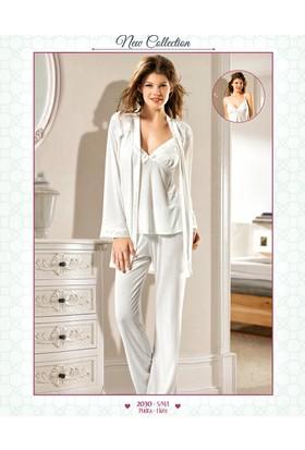Xses Hamile 3 Lü Sabahlıklı Lohusa Pijama Takımı 2030