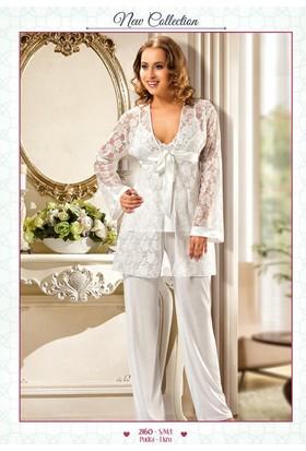 Xses Hamile 3 Lü Sabahlıklı Lohusa Pijama Takımı 2160