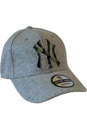 Outlet Çarşım Erkek NY Kamuflaj Nakışlı Kep Şapka
