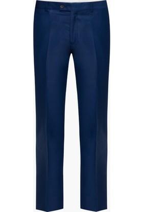Hateko Klasik Kesim Parlak Mavi Kumaş Pantolon