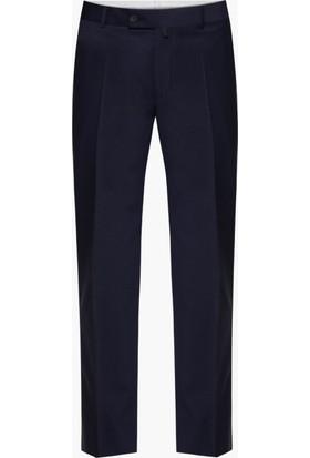 Hateko Klasik Kesim Altınyıldız Koyu Mavi Yün Kumaş Pantolon