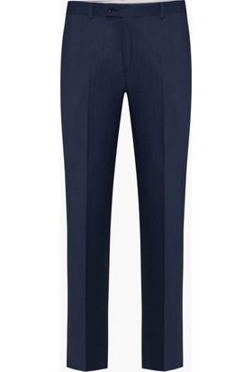 Hateko Klasik Kesim Koyu Mavigri Altınyıldız Kırışmayan Yün Kumaş Pantolon