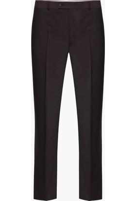 Hateko Klasik Kesim Kahverengi Altınyıldız Kırışmayan Yün Kumaş Pantolon