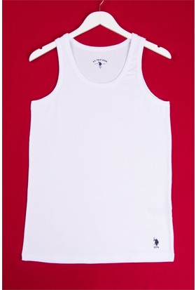 U.S. Polo Assn. Erkek Likralı Atlet Beyaz