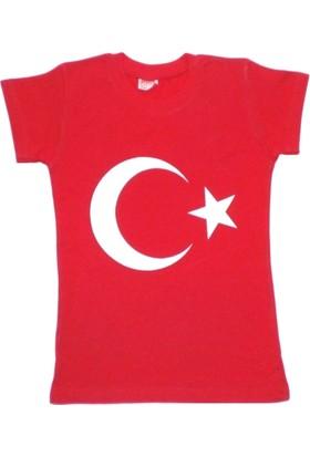 DobaKids Türk Bayrak Baskılı Unisex Tişört