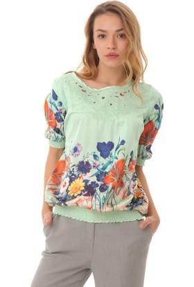 Serpil Çiçek Desenli Bluz