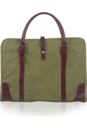 Muchuan Kanvas Laptop Çantası Fıstık Yeşili