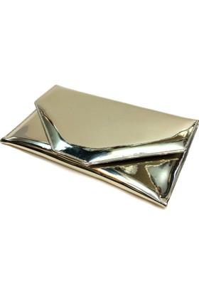 Milles Renk Dore Ayna Deri İnce Zarf Abiye Çanta